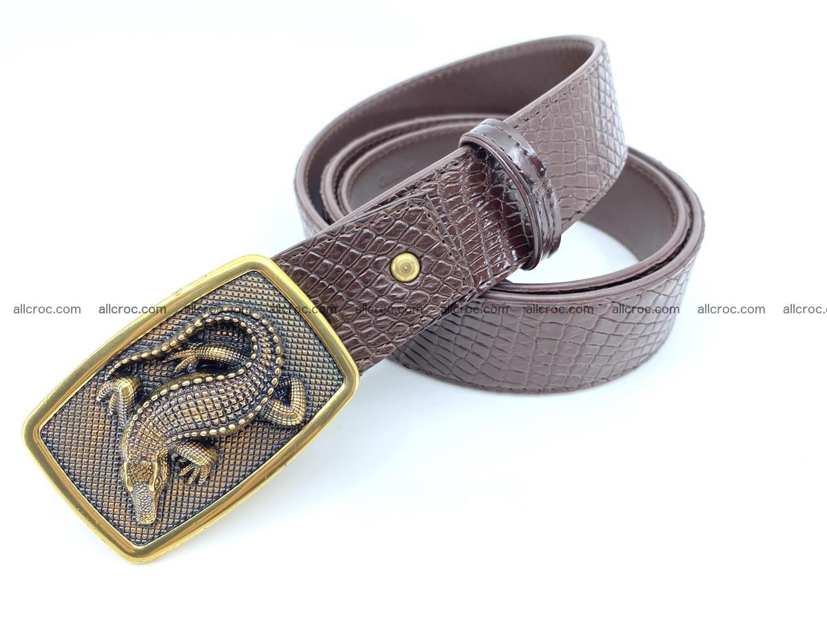 Handcrafted Crocodile leather belt 818 Foto 1