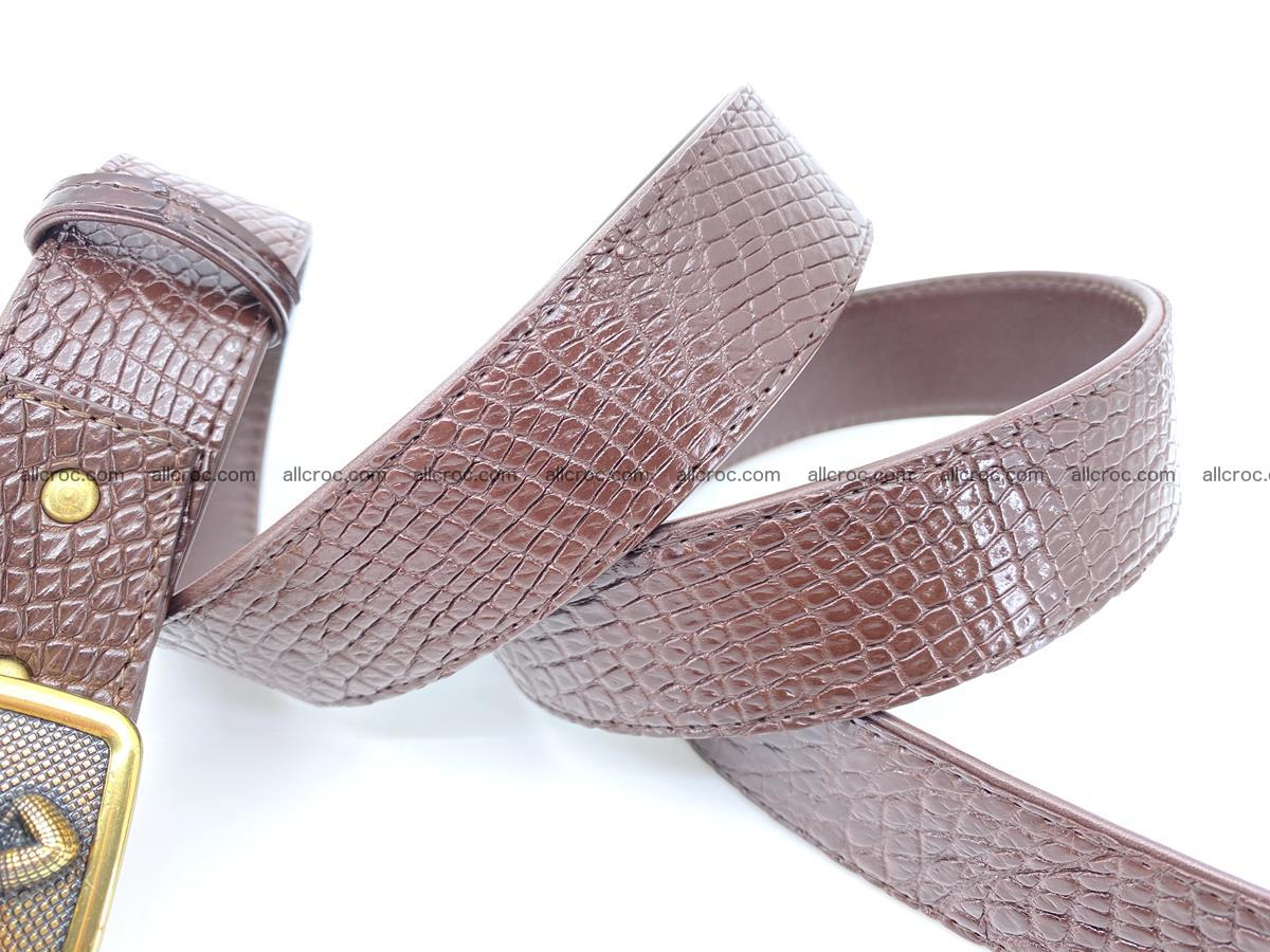 Handcrafted Crocodile leather belt 818 Foto 4