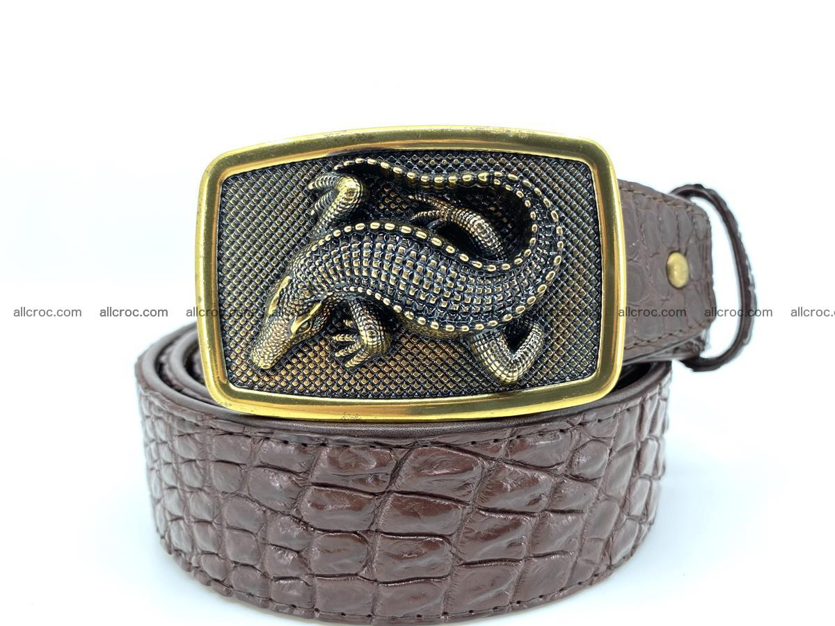 Handcrafted Crocodile leather belt 816 Foto 0