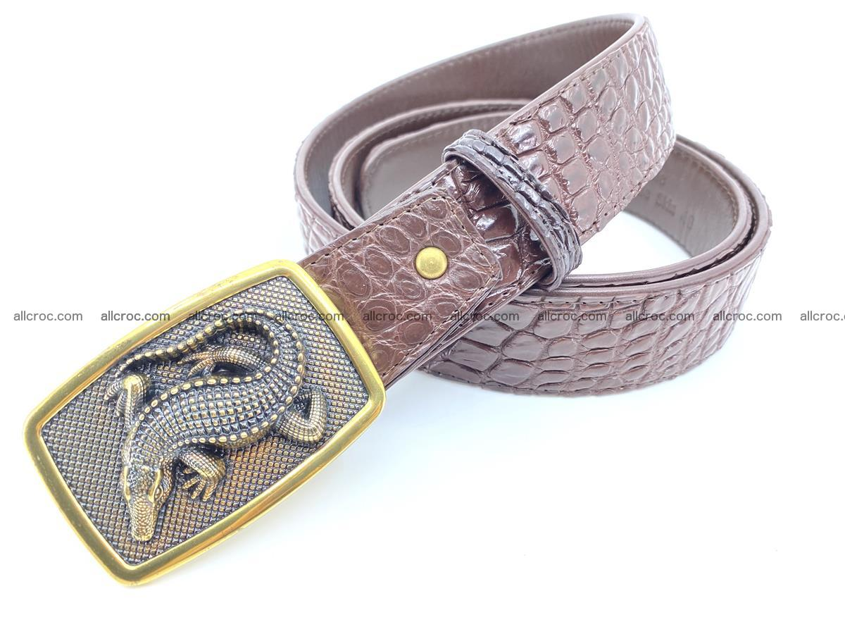 Handcrafted Crocodile leather belt 816 Foto 1