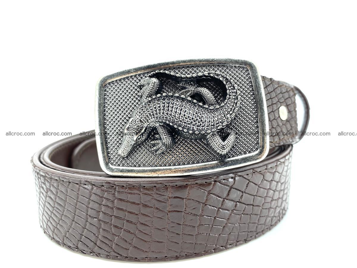 Handcrafted Crocodile leather belt 814 Foto 0
