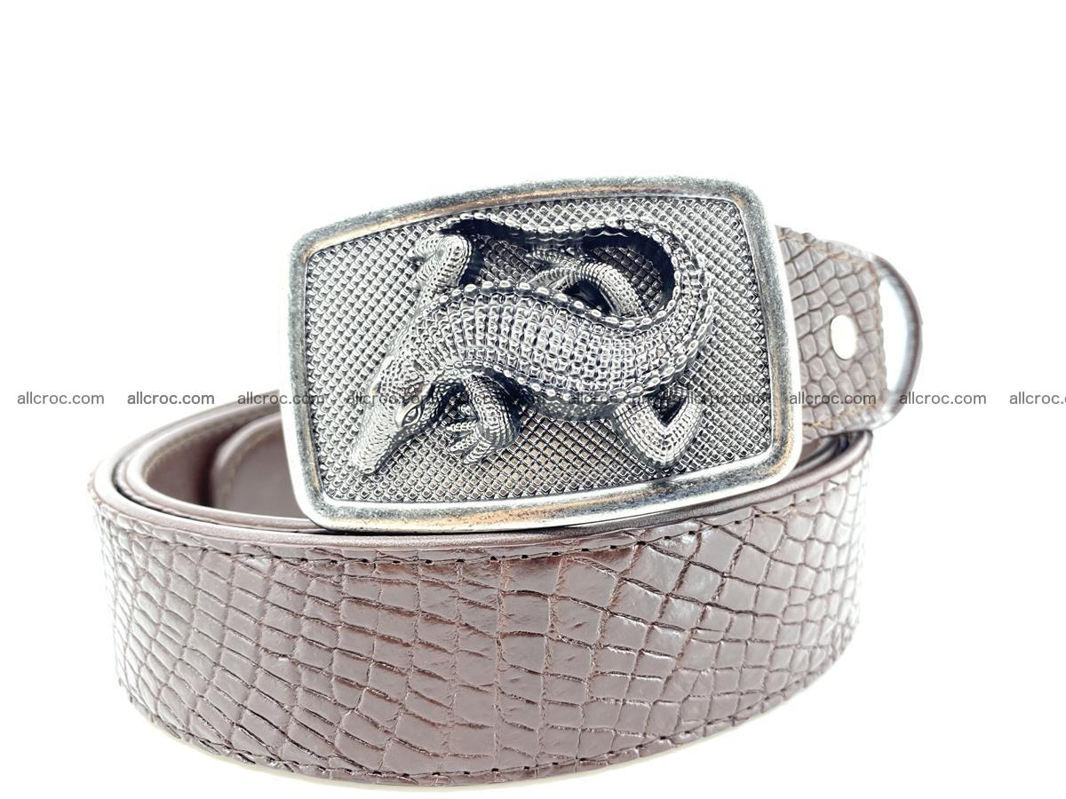Handcrafted Crocodile leather belt 814 Foto 11
