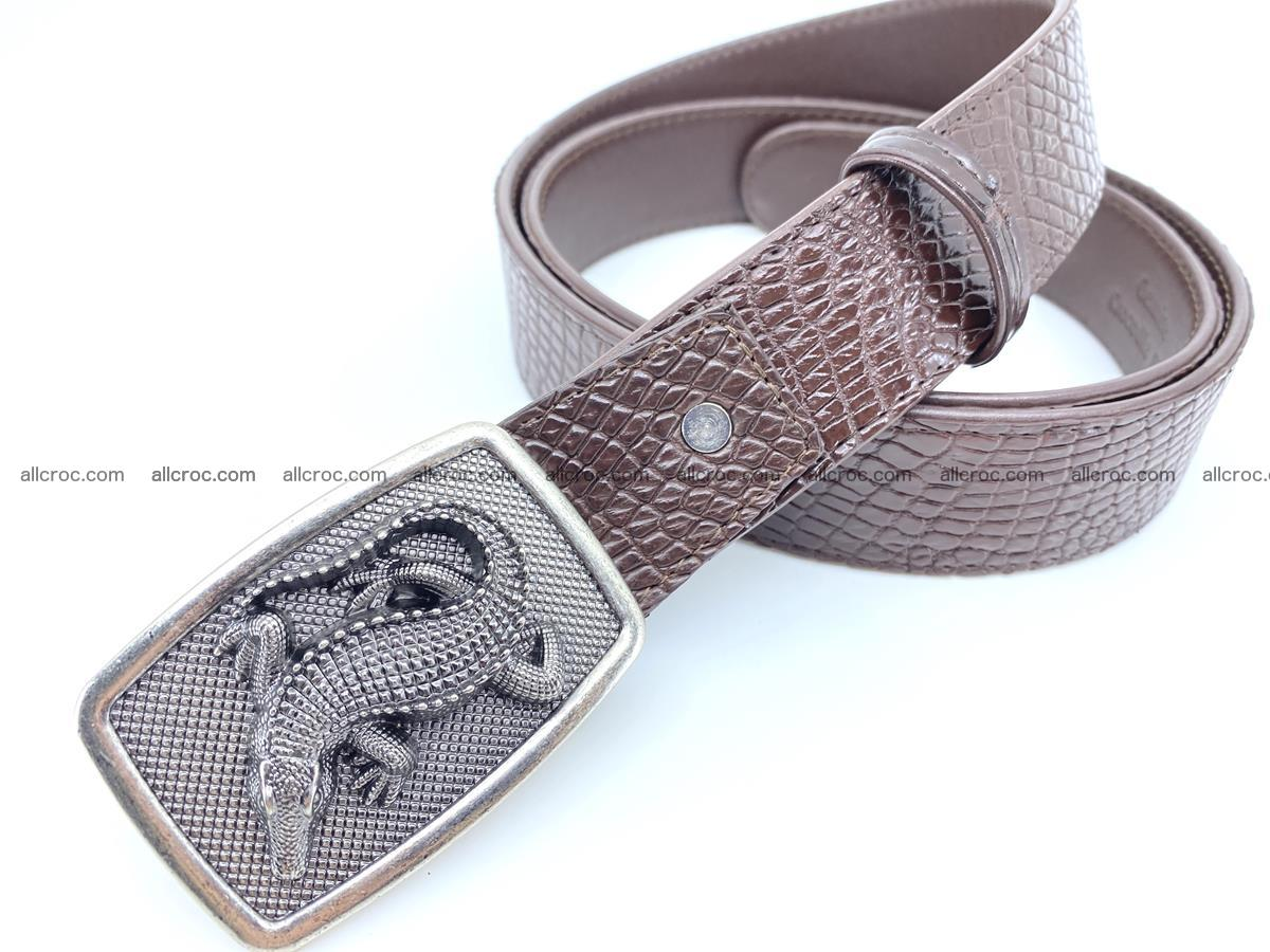 Handcrafted Crocodile leather belt 814 Foto 1