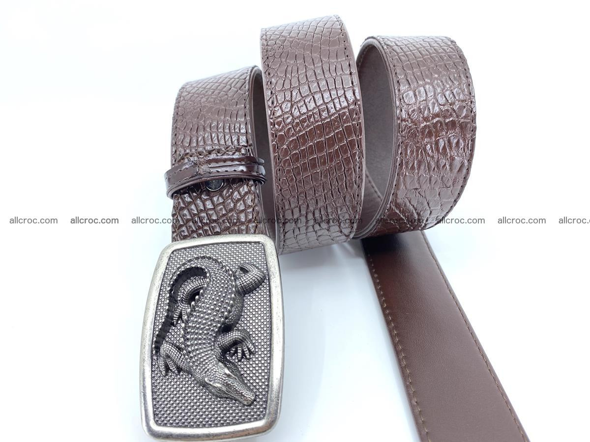 Handcrafted Crocodile leather belt 814 Foto 2