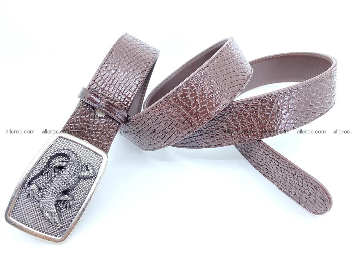 Handcrafted Crocodile leather belt 814 Foto 3