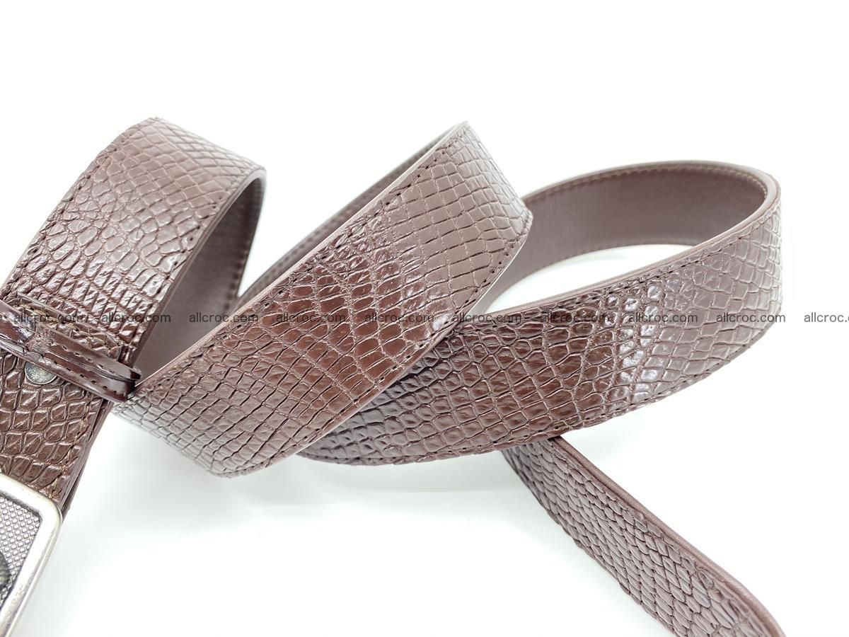 Handcrafted Crocodile leather belt 814 Foto 4