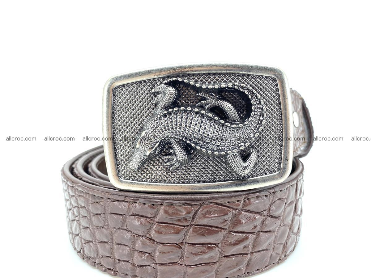 Handcrafted Crocodile leather belt 812 Foto 0