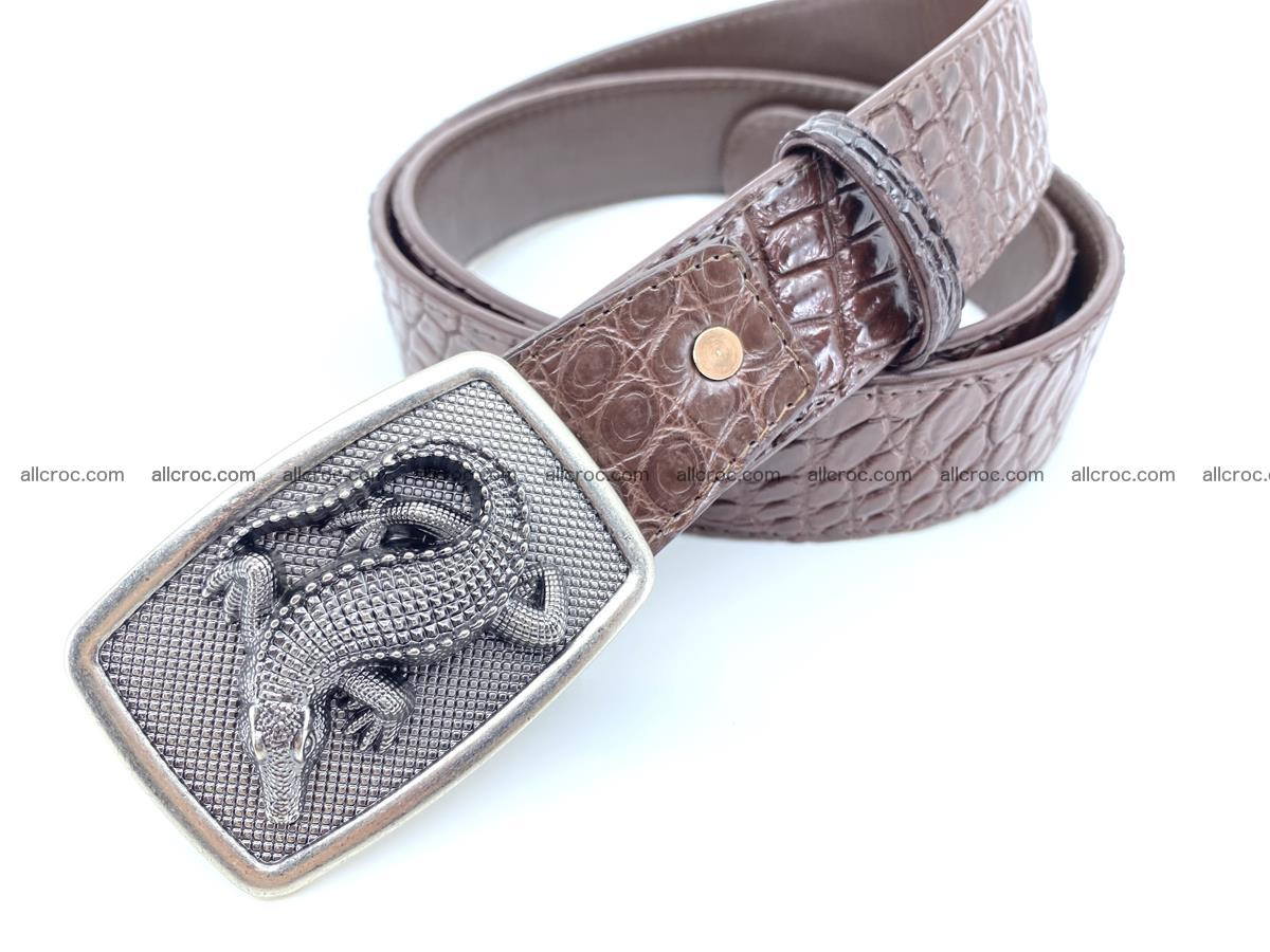 Handcrafted Crocodile leather belt 812 Foto 1
