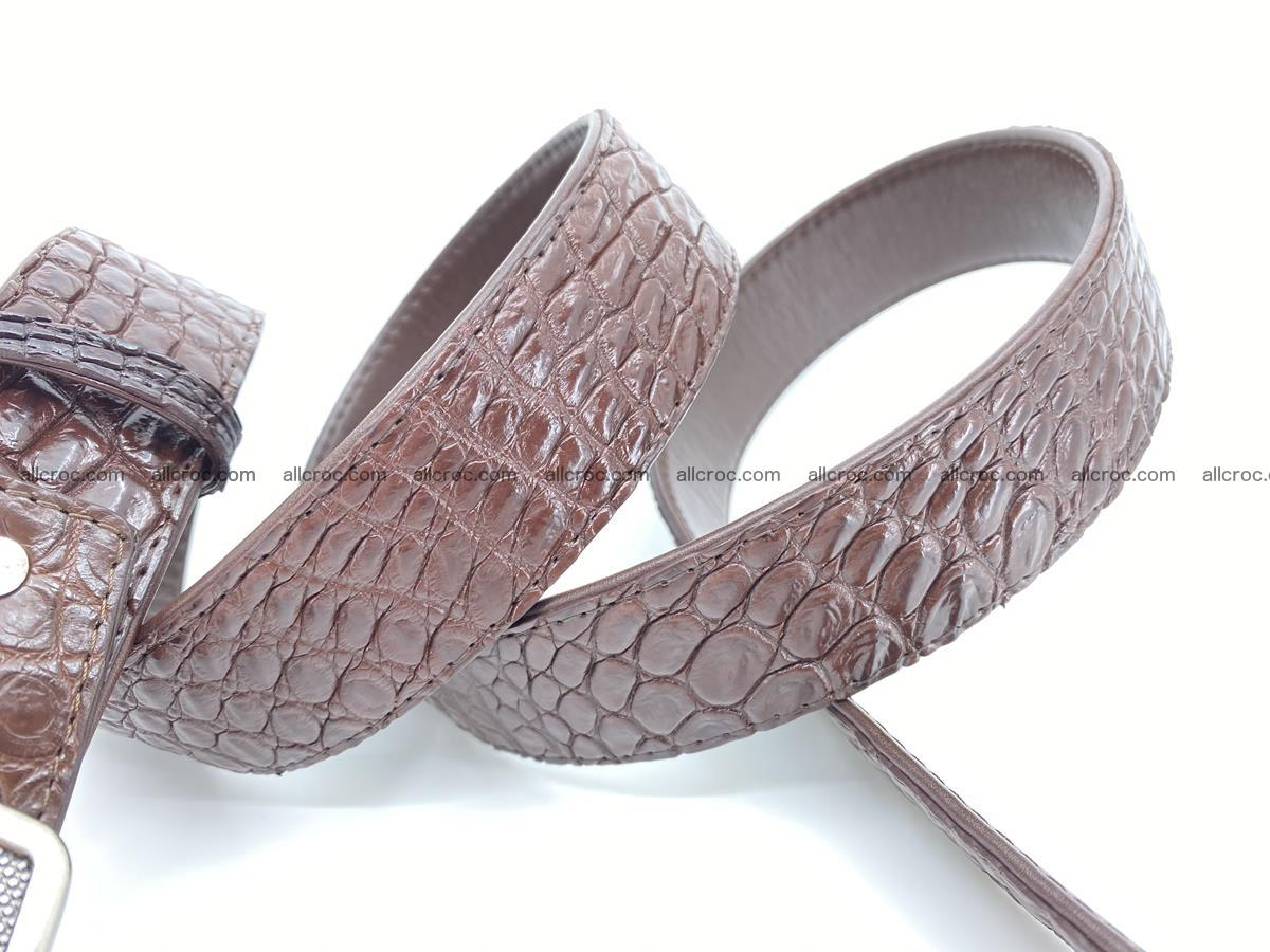 Handcrafted Crocodile leather belt 812 Foto 4