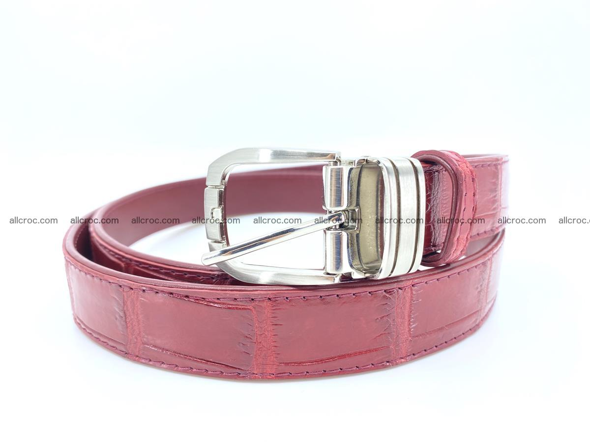Handcrafted Siamese crocodile leather belt for women 861 Foto 0