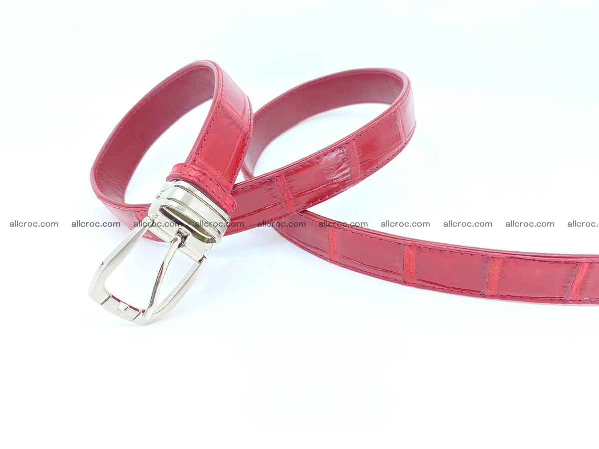 Handcrafted Siamese crocodile leather belt for women 861 Foto 1