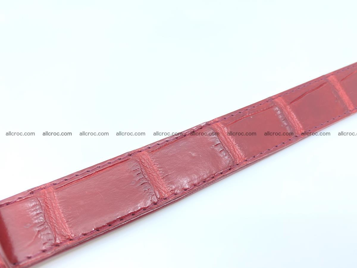 Handcrafted Siamese crocodile leather belt for women 861 Foto 2