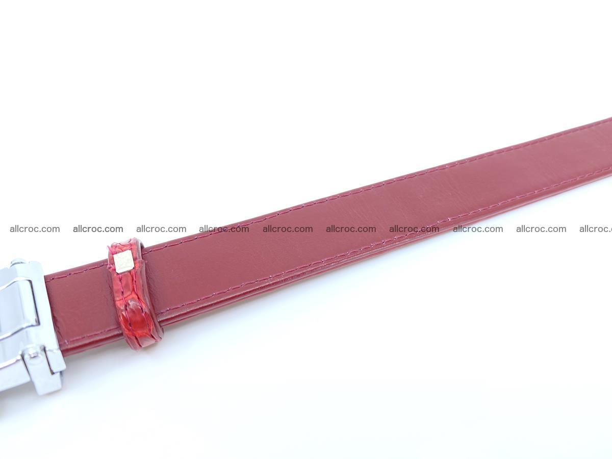 Handcrafted Siamese crocodile leather belt for women 861 Foto 3