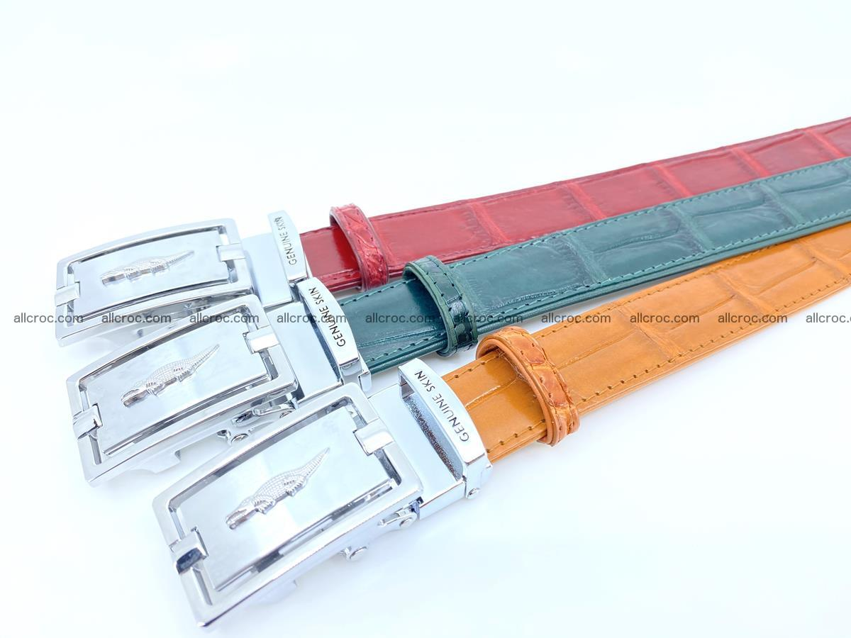 Handcrafted Siamese crocodile leather belt for women 861 Foto 4