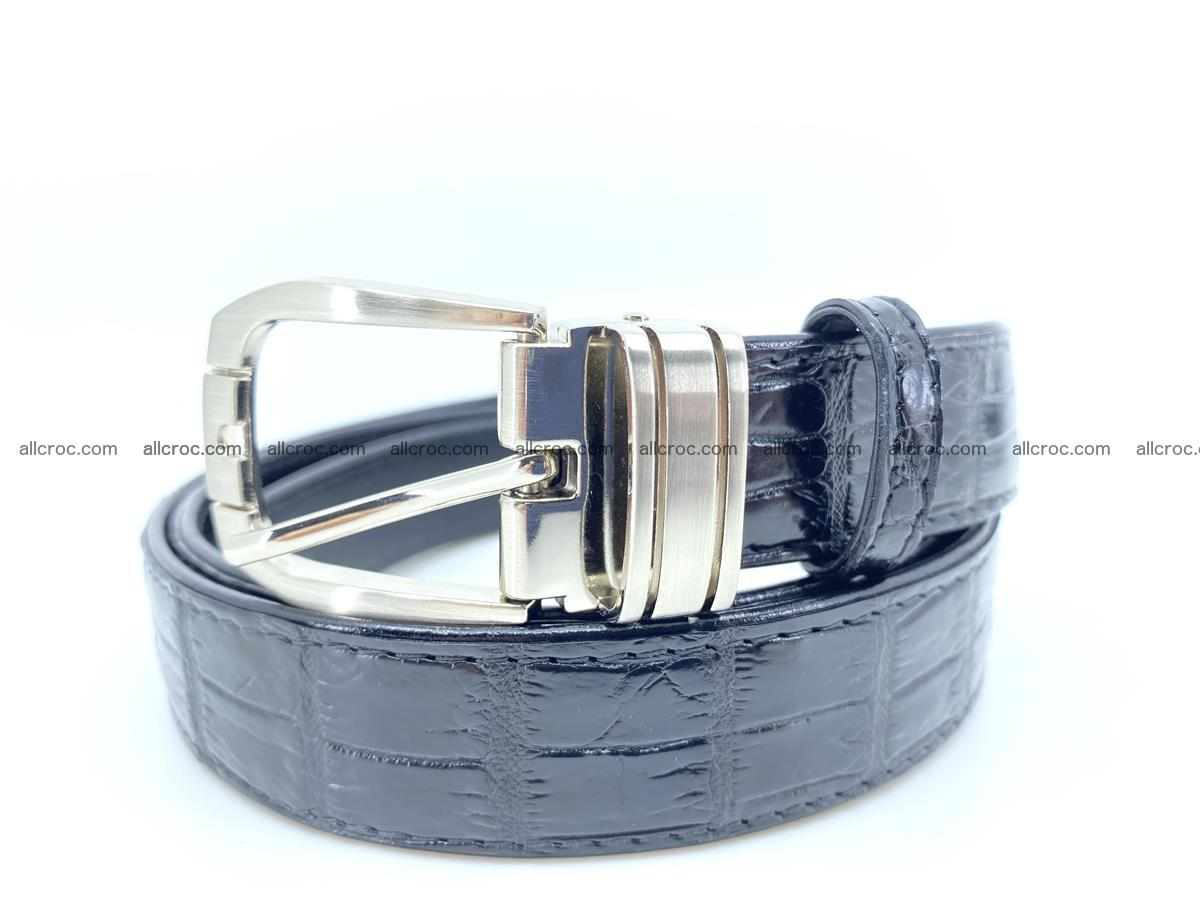 Handcrafted Siamese crocodile leather belt for women 873 Foto 0