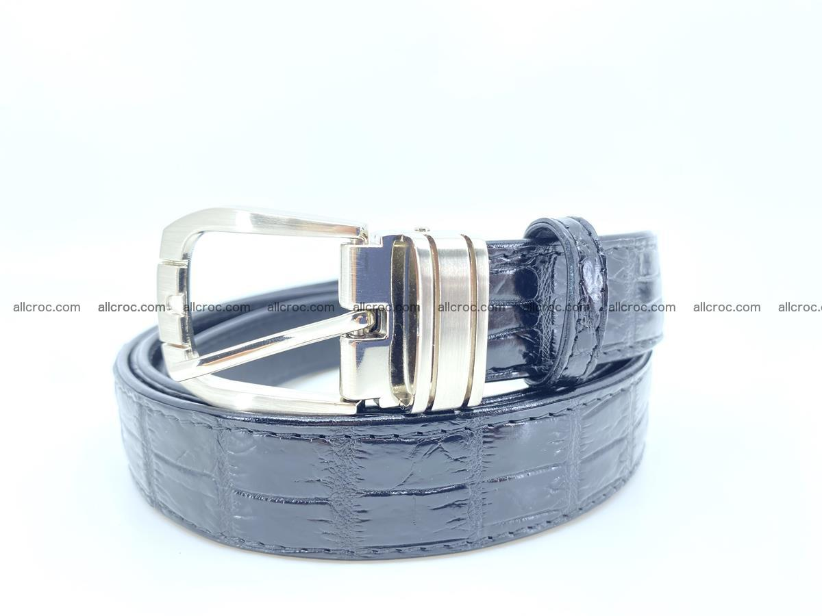 Handcrafted Siamese crocodile leather belt for women 873 Foto 3