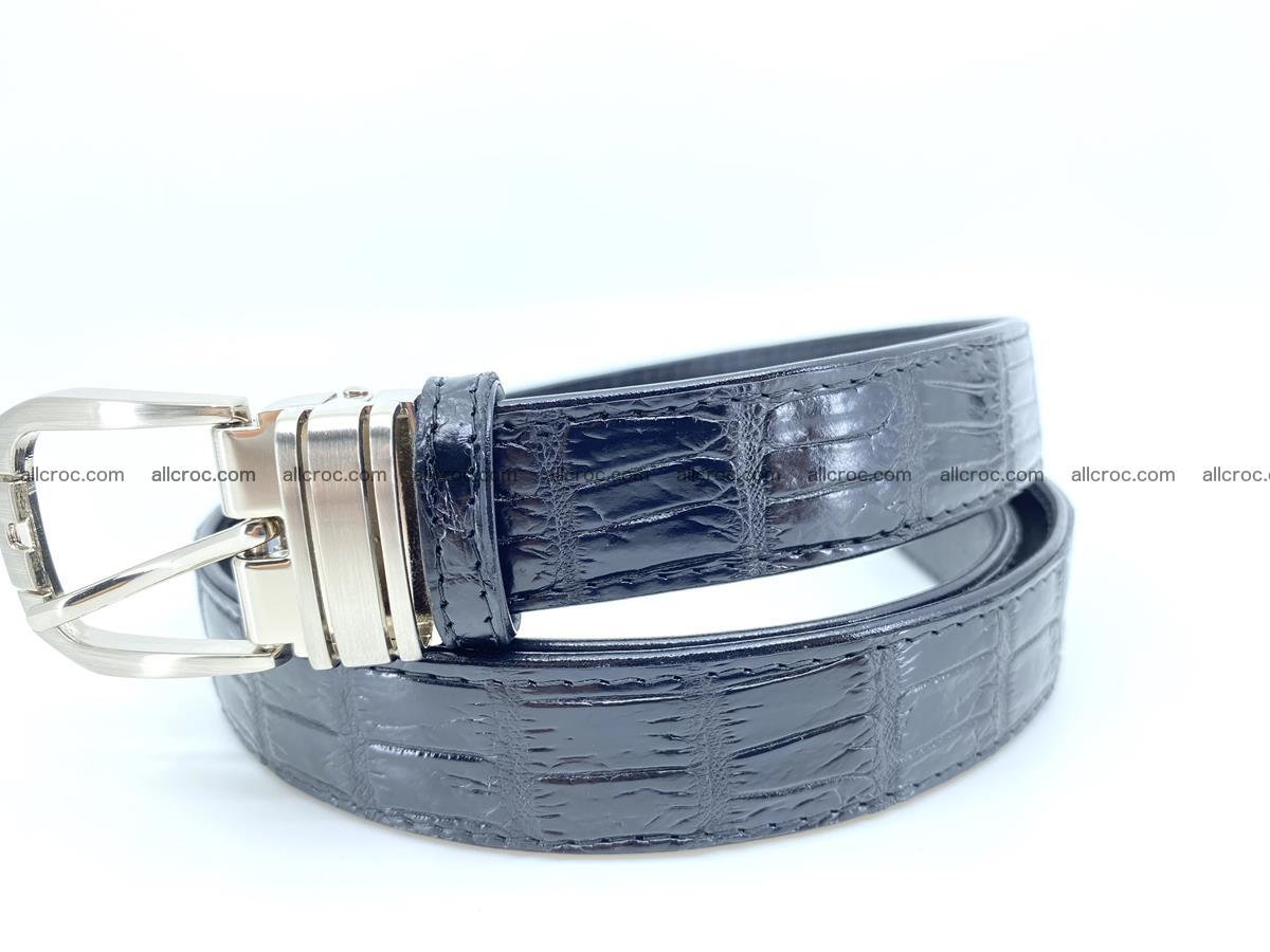 Handcrafted Siamese crocodile leather belt for women 873 Foto 2