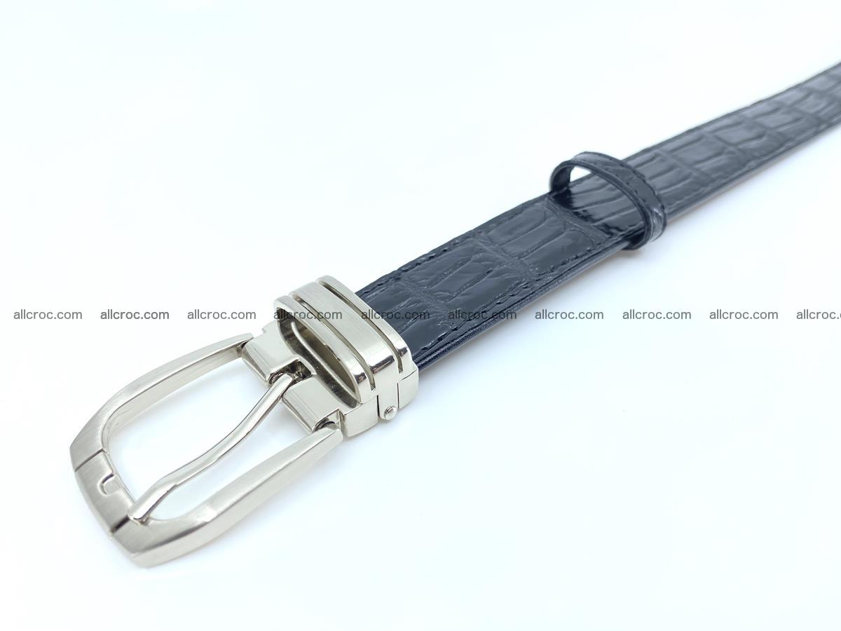 Handcrafted Siamese crocodile leather belt for women 873 Foto 4