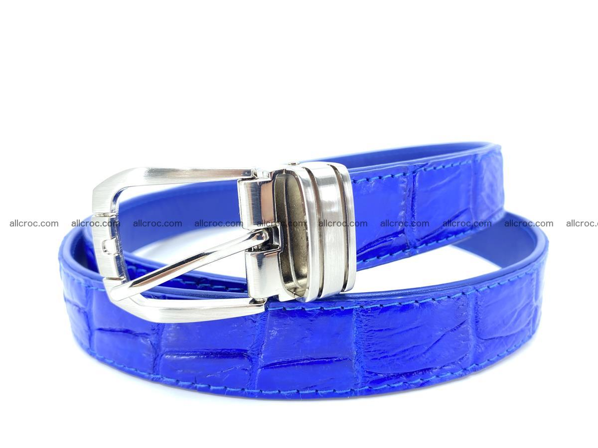 Handcrafted Siamese crocodile leather belt for women 878 Foto 0