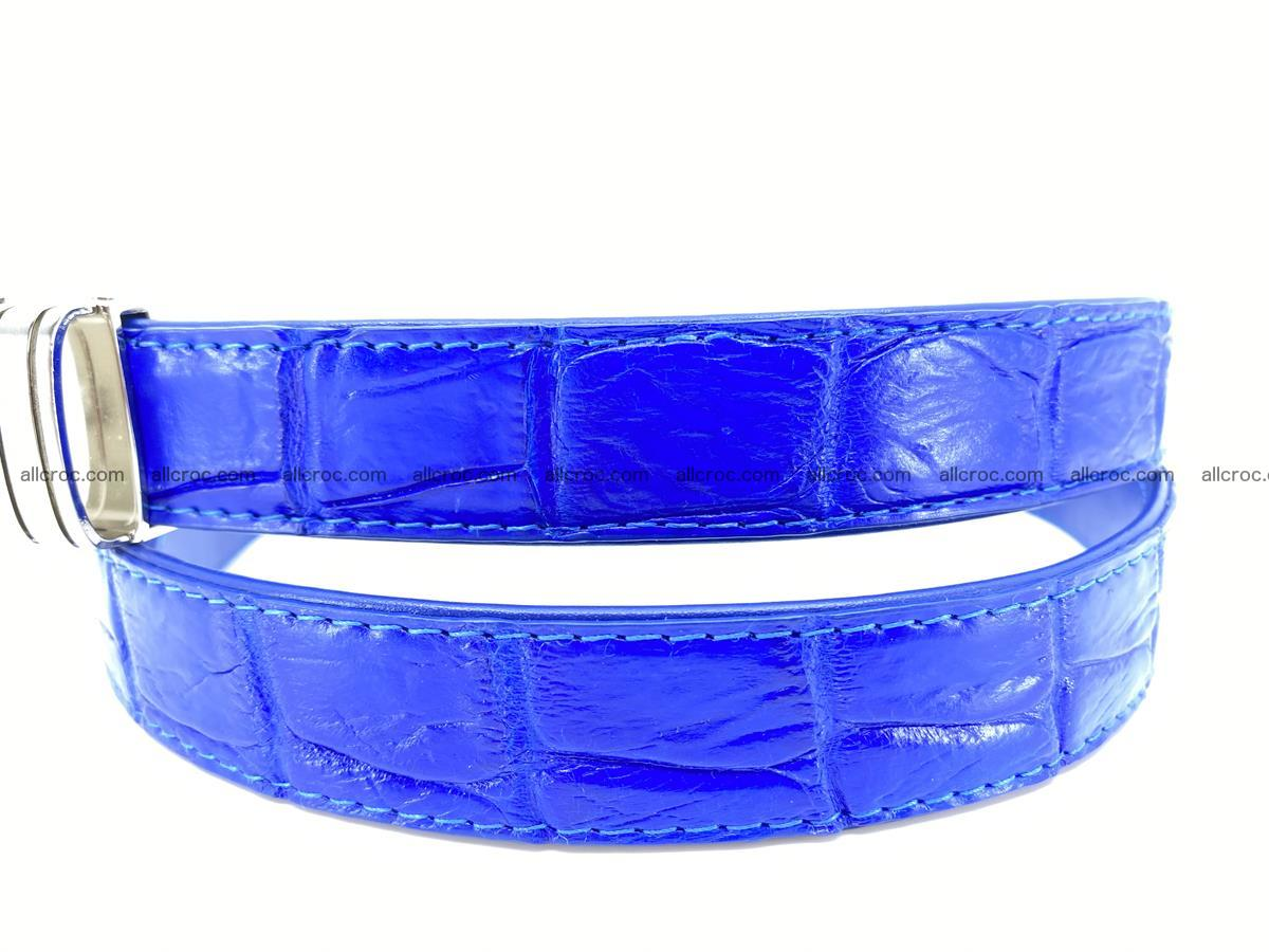 Handcrafted Siamese crocodile leather belt for women 878 Foto 1
