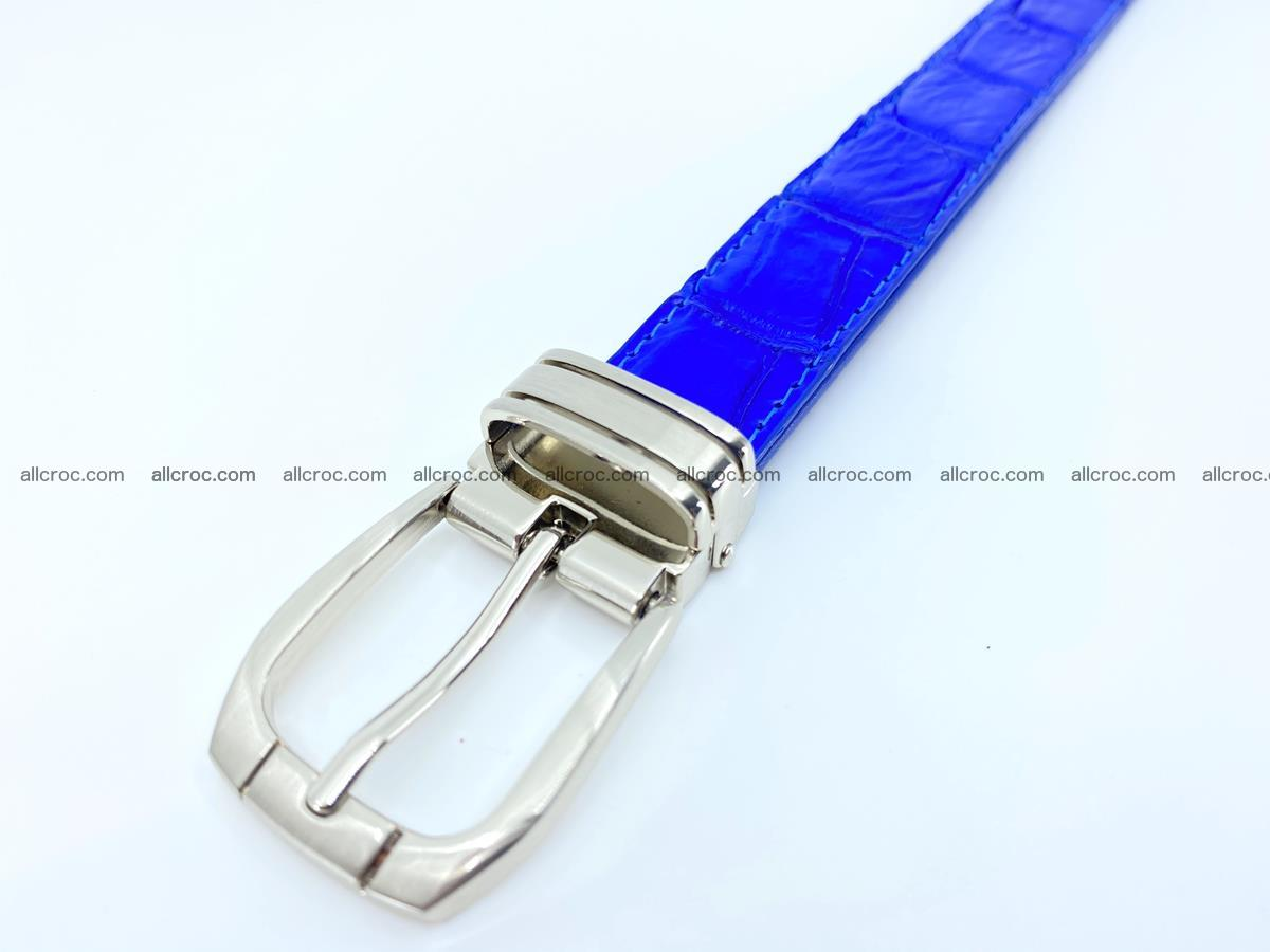 Handcrafted Siamese crocodile leather belt for women 878 Foto 4