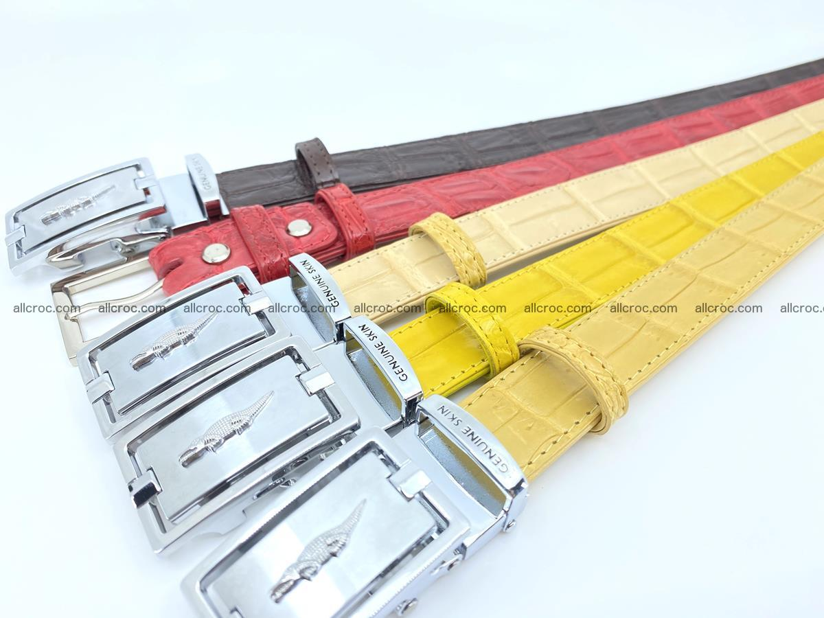 Handcrafted Siamese crocodile leather belt for women 875 Foto 7