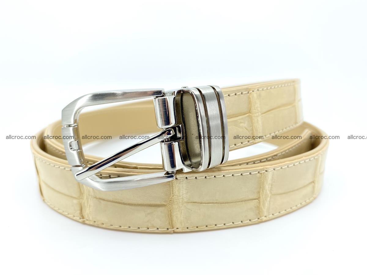 Handcrafted Siamese crocodile leather belt for women 875 Foto 0