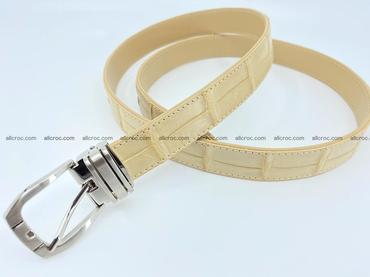 Handcrafted Siamese crocodile leather belt for women 875 Foto 2