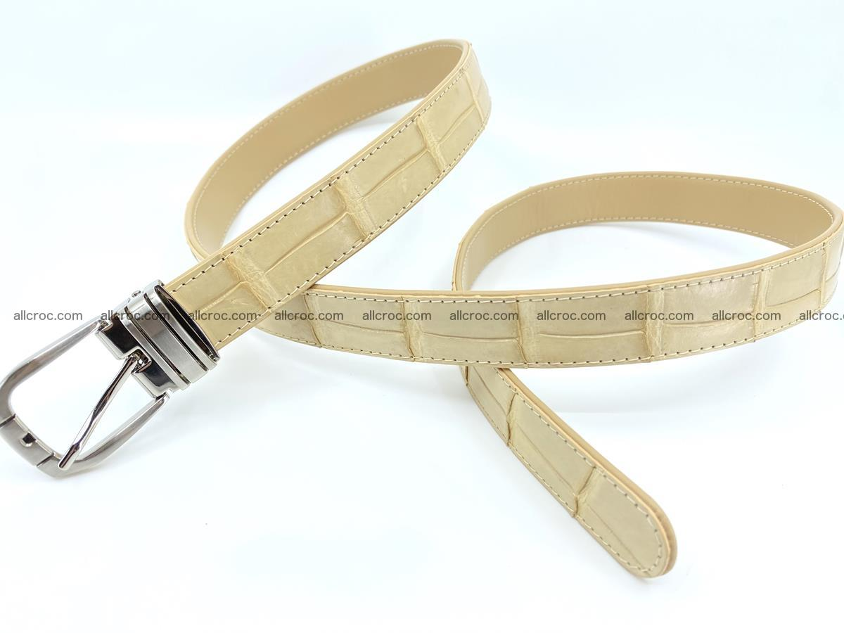 Handcrafted Siamese crocodile leather belt for women 875 Foto 1