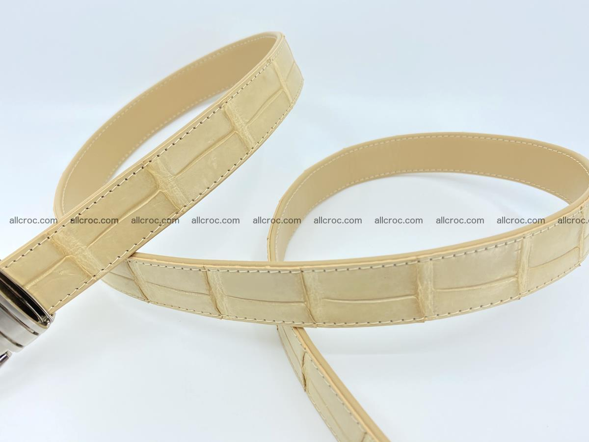 Handcrafted Siamese crocodile leather belt for women 875 Foto 3
