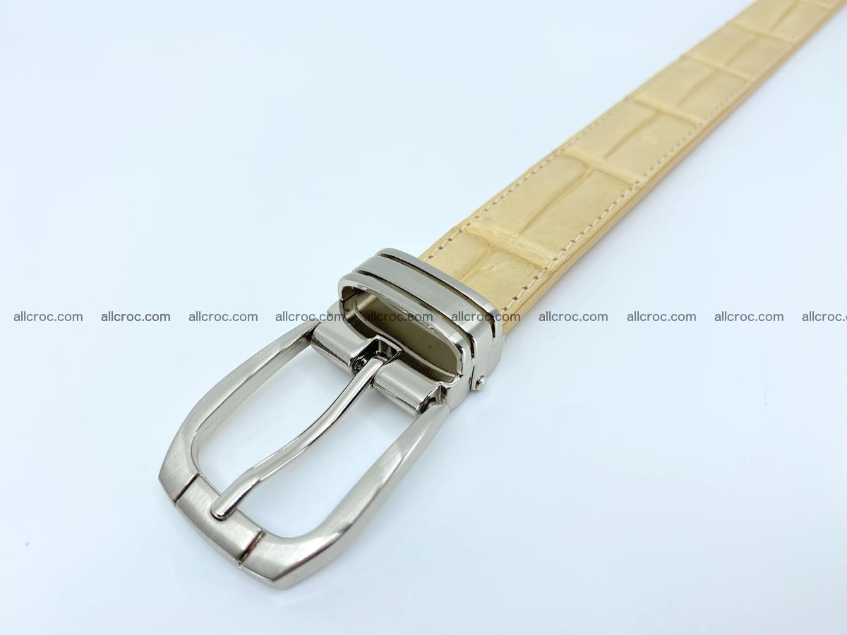 Handcrafted Siamese crocodile leather belt for women 875 Foto 4