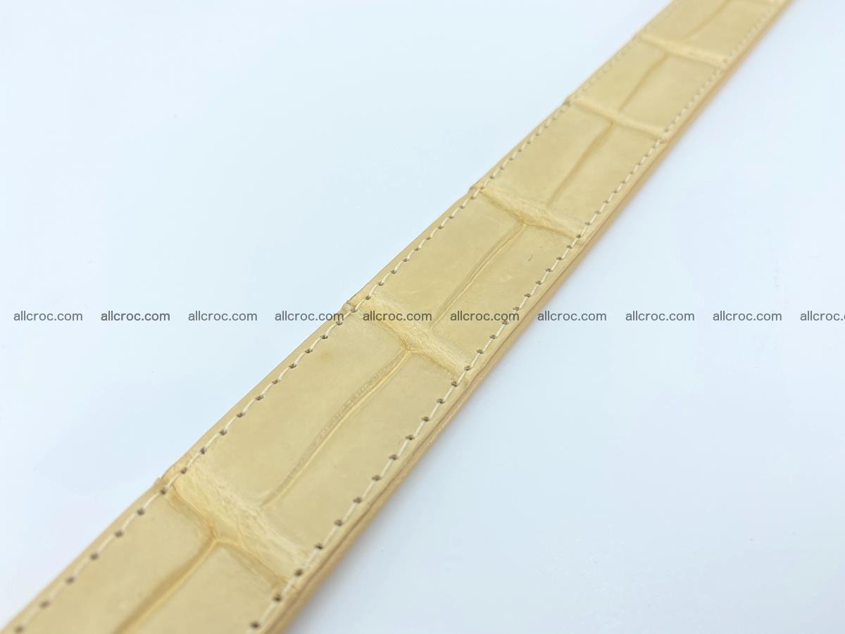 Handcrafted Siamese crocodile leather belt for women 875 Foto 5