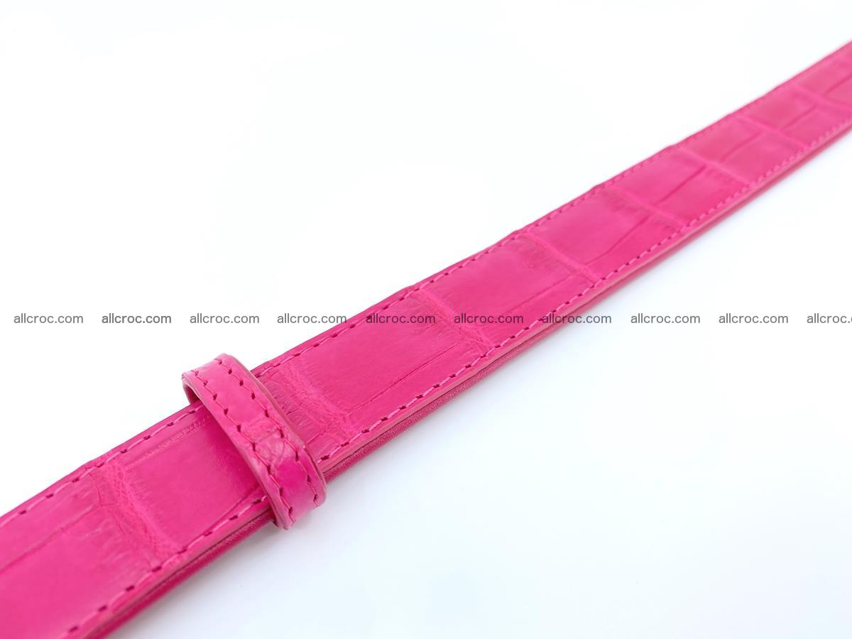 Handcrafted Siamese crocodile leather belt for women 872 Foto 4