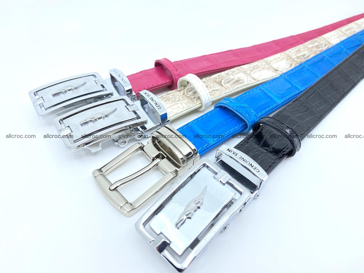 Handcrafted Siamese crocodile leather belt for women 871 Foto 6