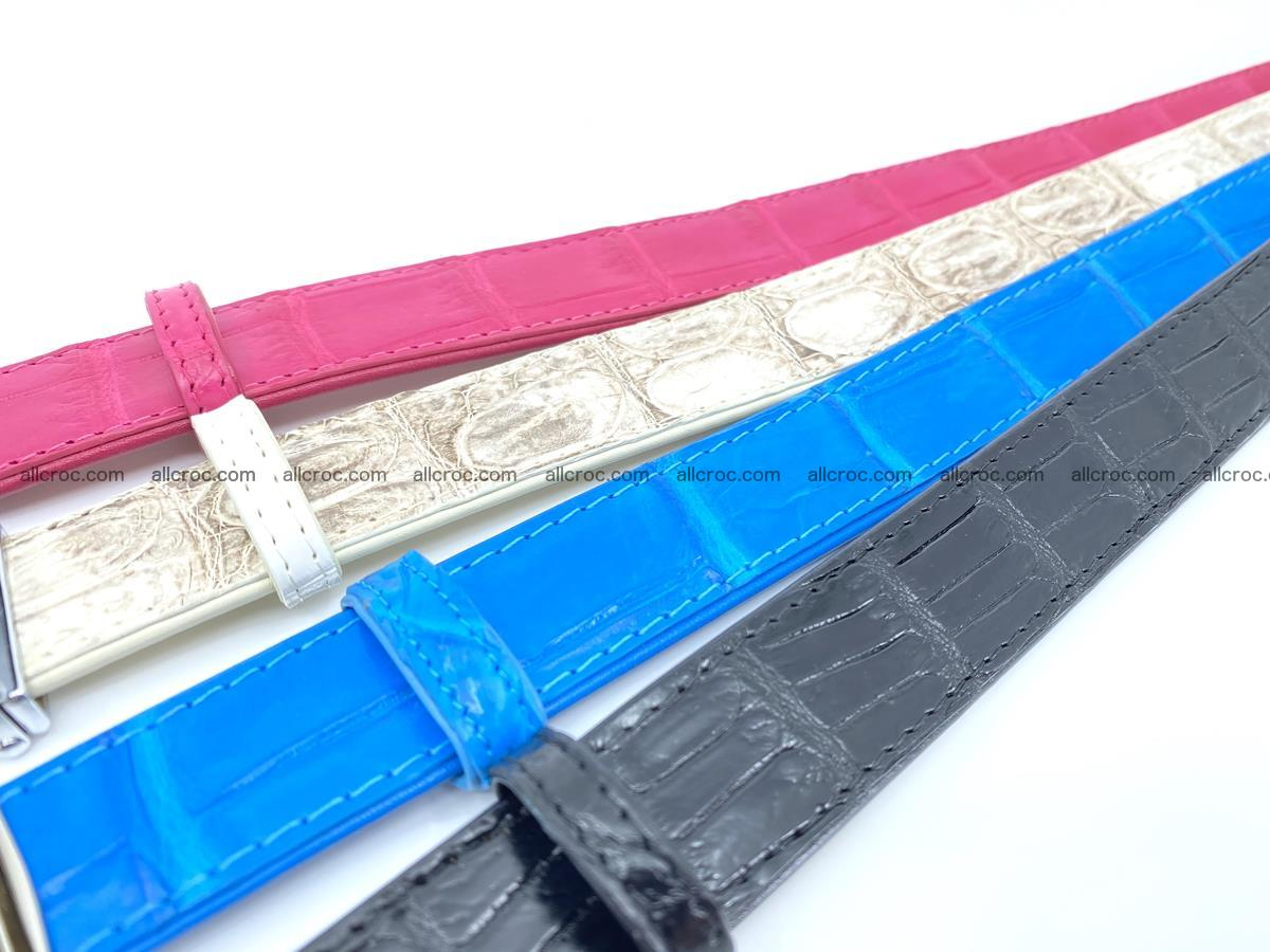 Handcrafted Siamese crocodile leather belt for women 871 Foto 7
