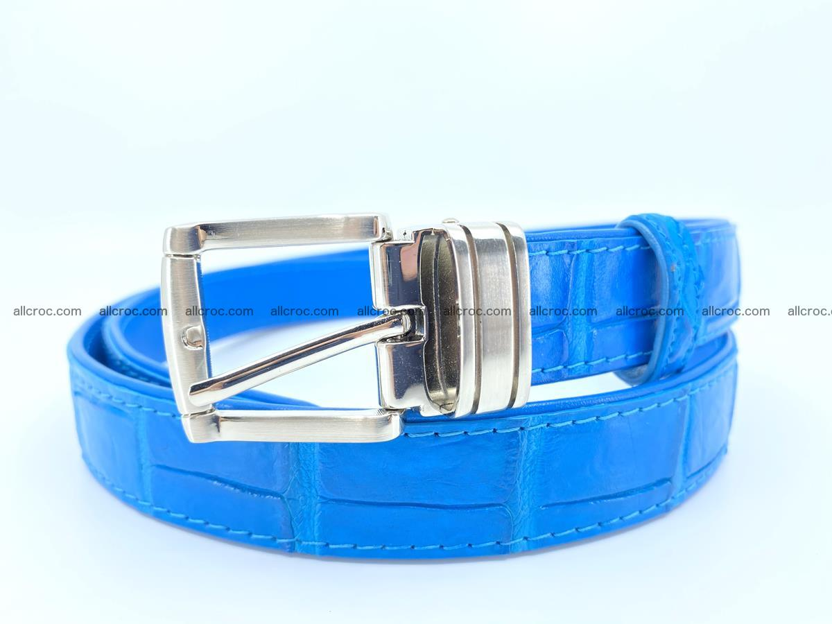 Handcrafted Siamese crocodile leather belt for women 871 Foto 0