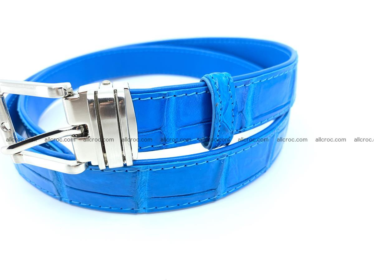 Handcrafted Siamese crocodile leather belt for women 871 Foto 1