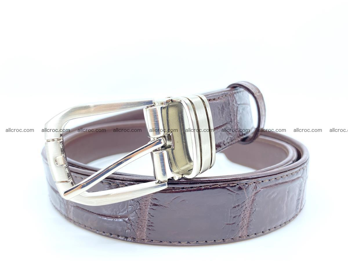 Handcrafted Siamese crocodile leather belt for women 879 Foto 0