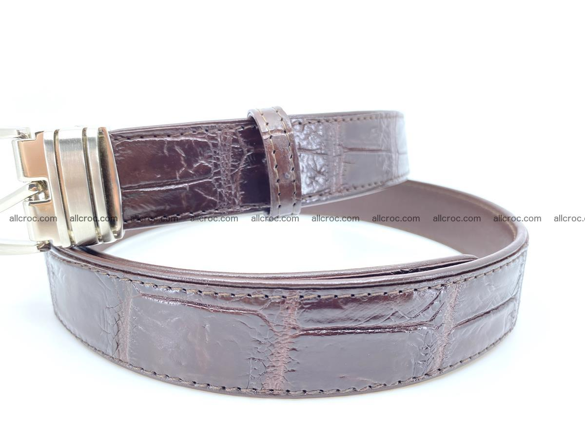 Handcrafted Siamese crocodile leather belt for women 879 Foto 1