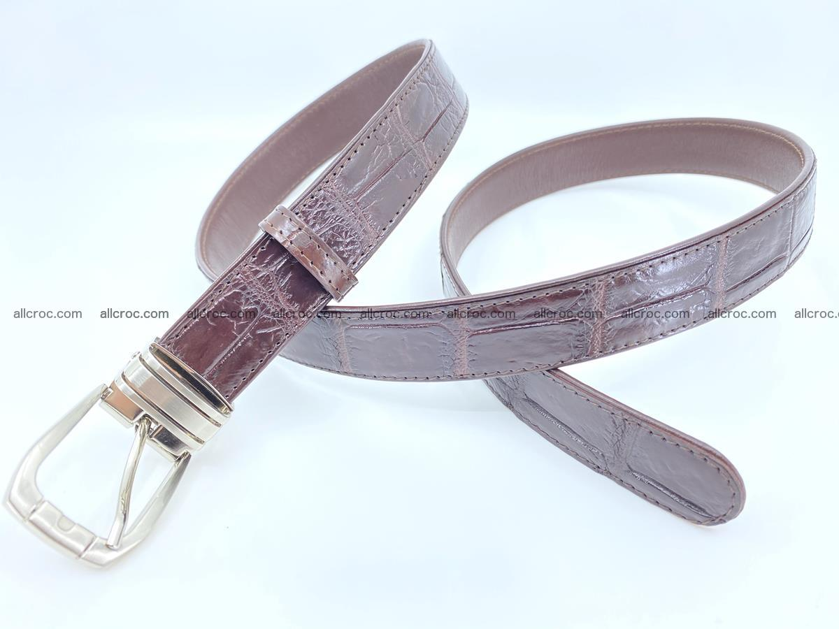 Handcrafted Siamese crocodile leather belt for women 879 Foto 2