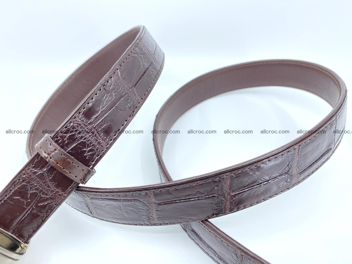 Handcrafted Siamese crocodile leather belt for women 879 Foto 3