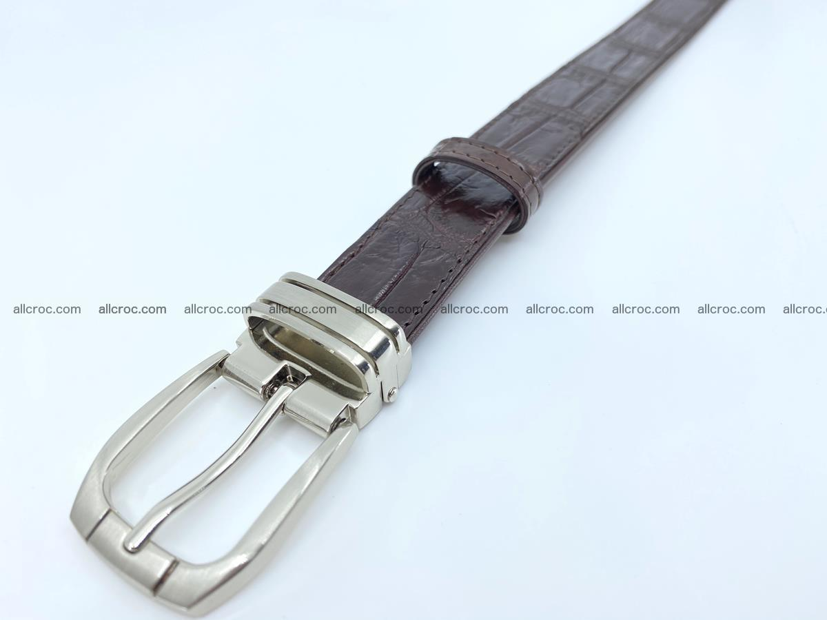 Handcrafted Siamese crocodile leather belt for women 879 Foto 4