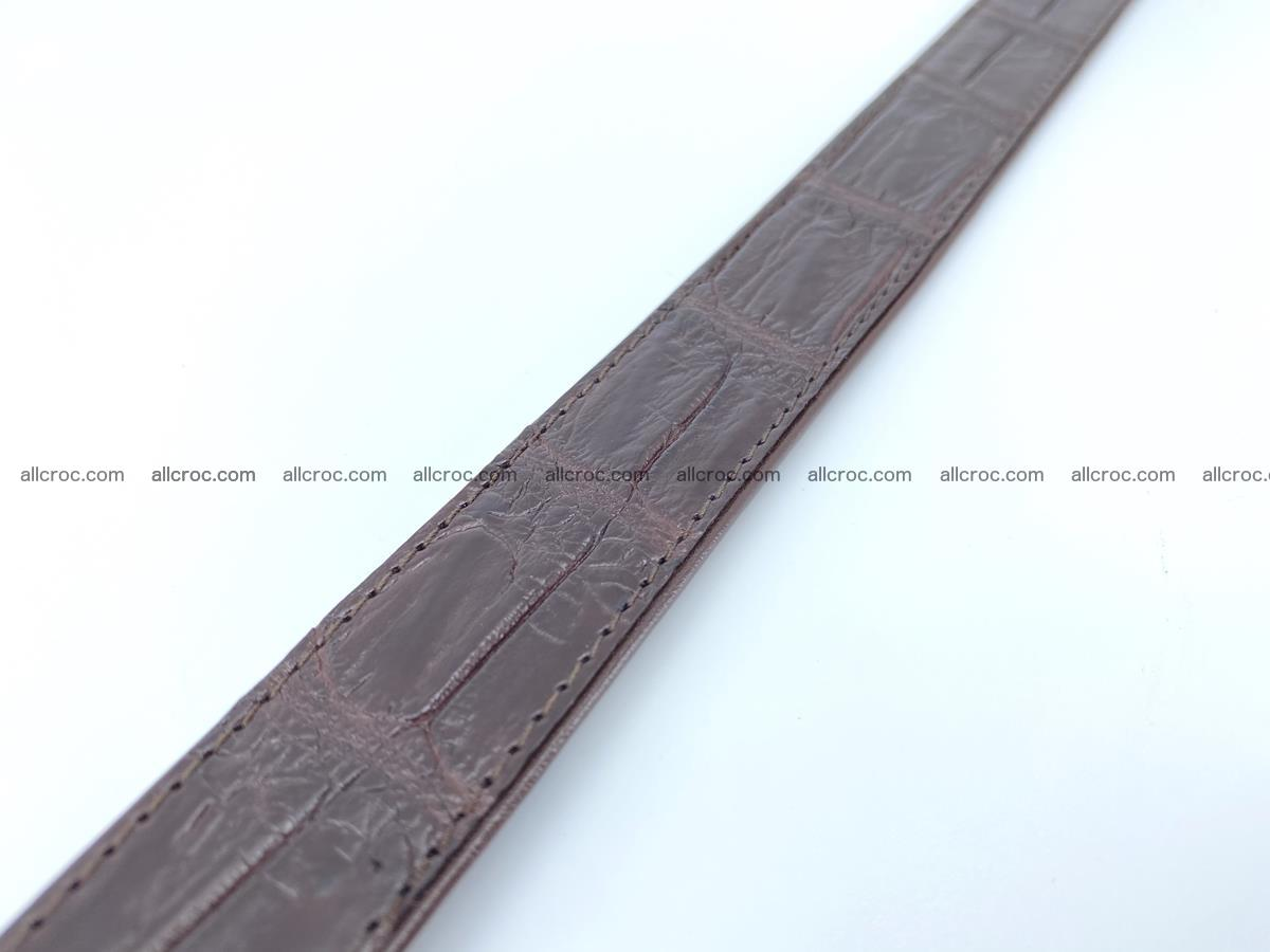 Handcrafted Siamese crocodile leather belt for women 879 Foto 6