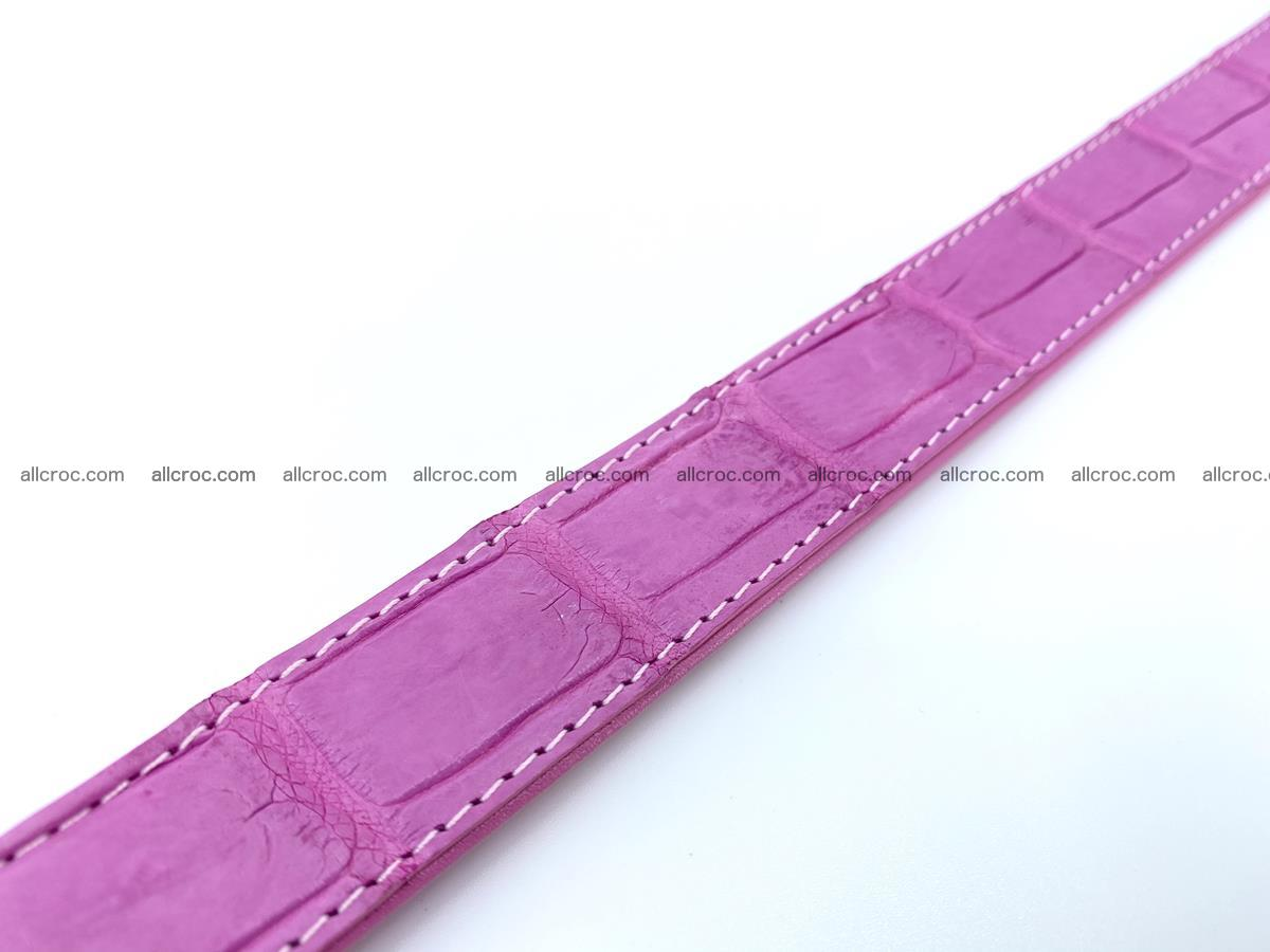 Handcrafted Siamese crocodile leather belt for women 864 Foto 4