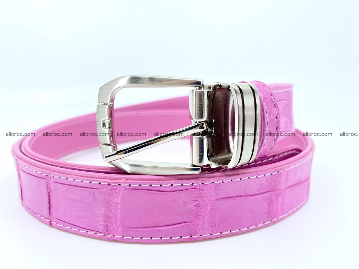 Handcrafted Siamese crocodile leather belt for women 864 Foto 0
