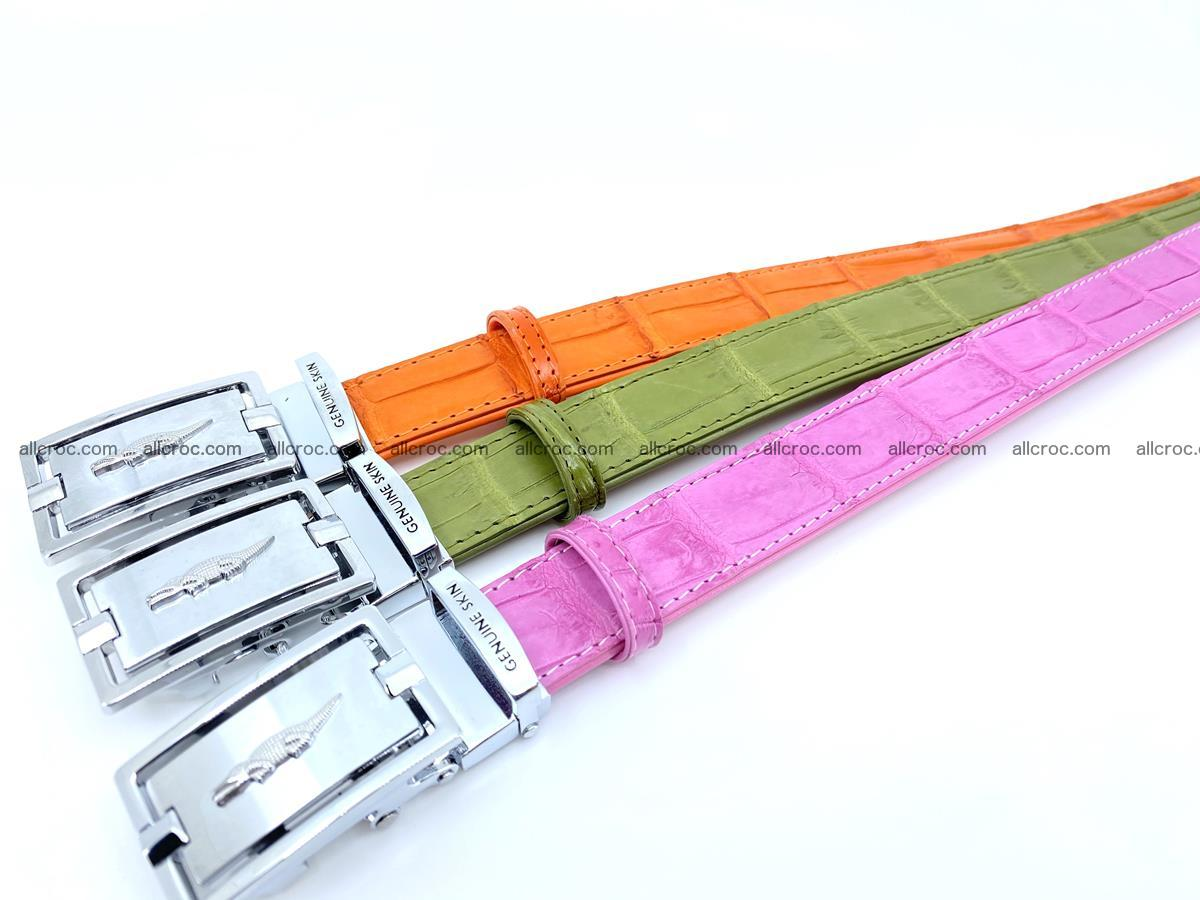 Handcrafted Siamese crocodile leather belt for women 864 Foto 5