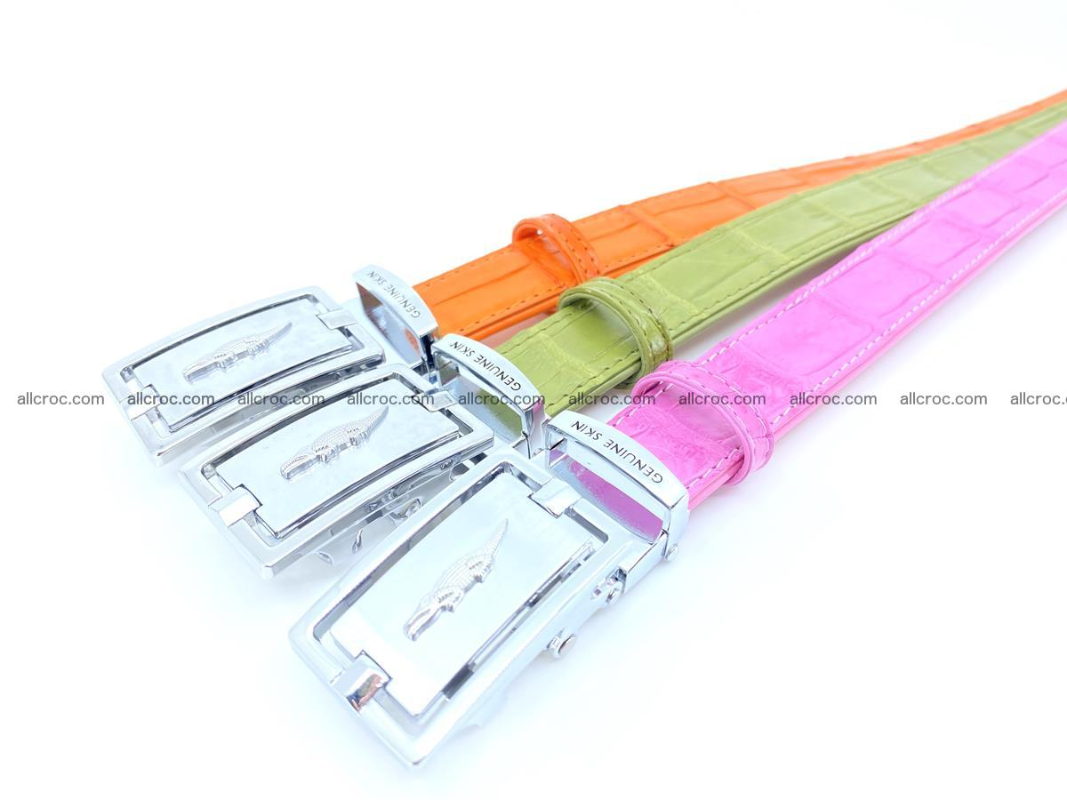Handcrafted Siamese crocodile leather belt for women 864 Foto 6