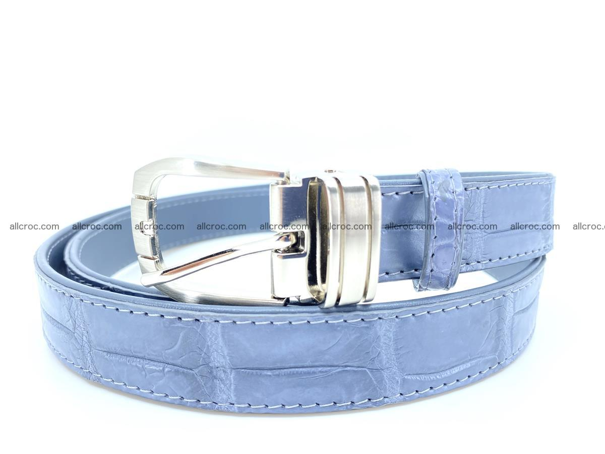Handcrafted Siamese crocodile leather belt for women 869 Foto 0