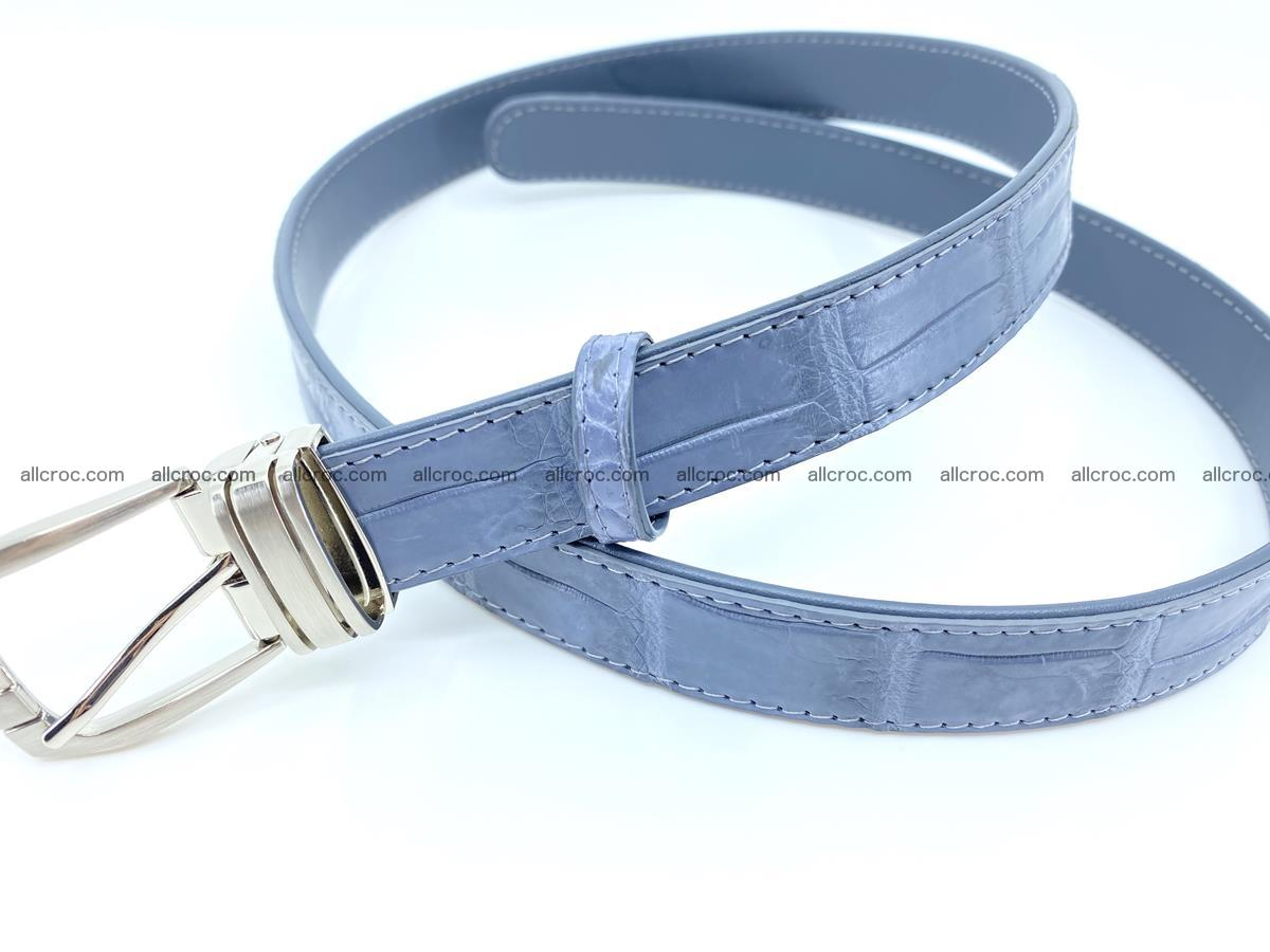 Handcrafted Siamese crocodile leather belt for women 869 Foto 2