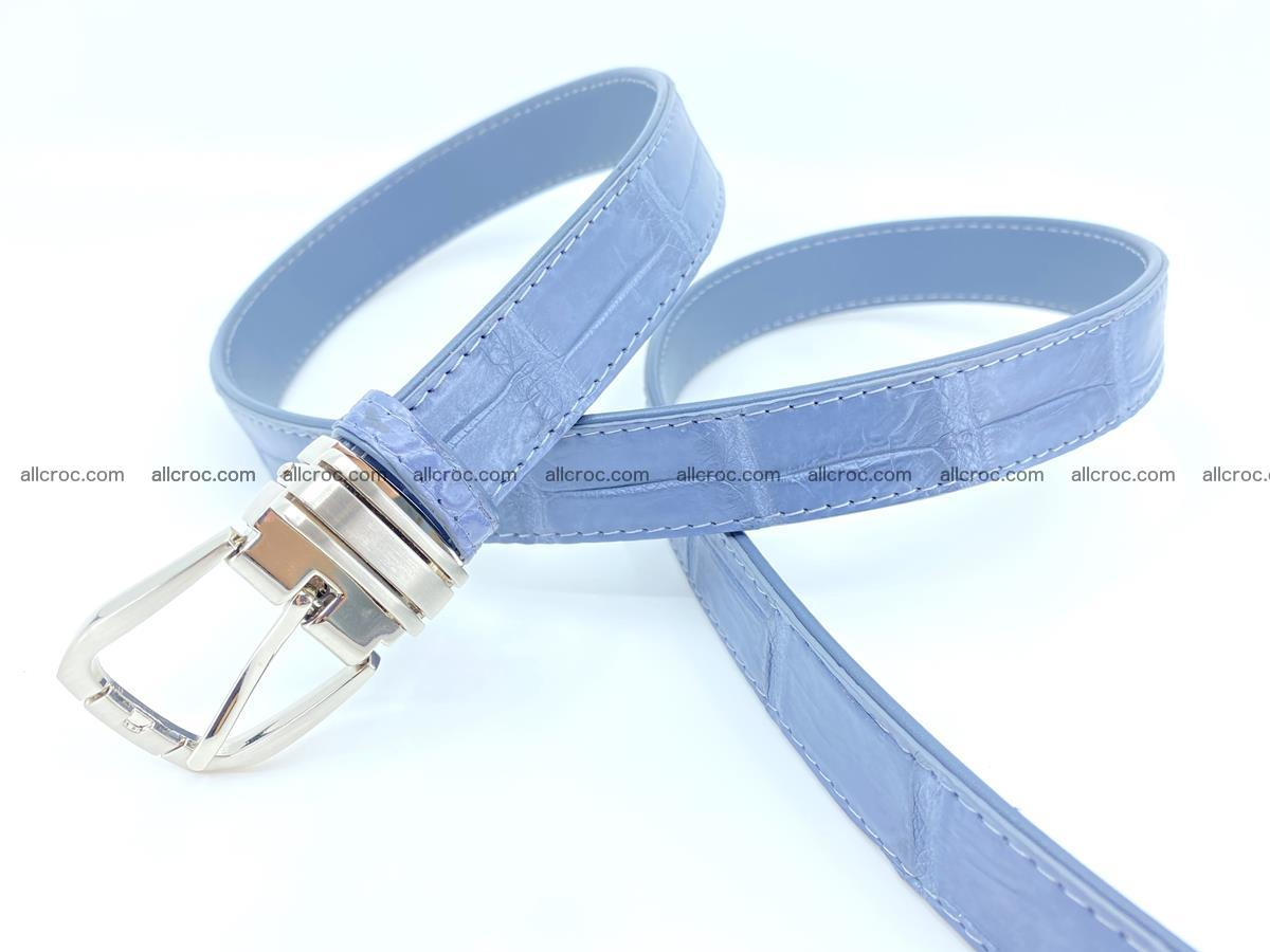 Handcrafted Siamese crocodile leather belt for women 869 Foto 3